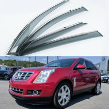 4PCS Car Window Visors For Cadillac SRX 2010-2016 Sedan Side Deflector Chrome