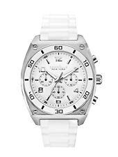 Caravelle New York Men's 43A126 Quartz Chronograph White Silicone 44mm Watch