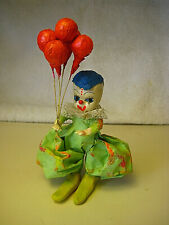 Fabric Mache Circus Clown with Balloons