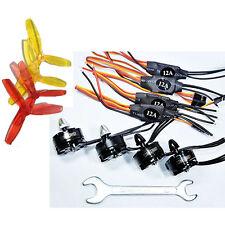 4 set 2204 2300KV Brushless Motor CW&CCW + SimonK 12A ESC + Prop for FPV Drones