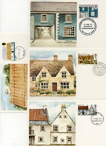 1970 Architecture set of 4  Maxi Cards with Appropriate special cancels