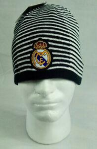 Real madrid beanie fc hat cap winter soccer official merchandise futbol riversib