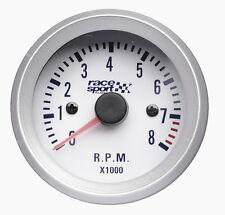 Sumex Brande 52mm De Diámetro 12v Coche Rpm tacómetro Medidor Carrera Dial-Satin Silver
