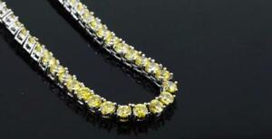 New Jewelry Stainless Steel W/Yellow Cubic Zirconia Tennis Necklace NM1007R434