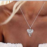 Silver Elephant Necklace Boho Jewellery Gypsy Bohemian Ethnic Pendant Gift A188