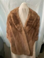 Vintage Greenblatts Of Ny Brown Mink Stole Cape Capelet Good Condition