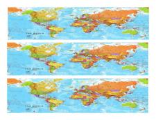 World Color Map ~ Edible Icing Image Border Strips