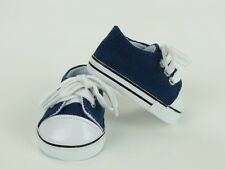 """Navy Sneakers Fits 18"""" American Boy or Girl Doll Clothes Shoes"""