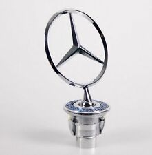 Chrome Star Logo Bonnet Hood Spring Badge Emblem for MERCEDES BENZ W202 W124 ETC