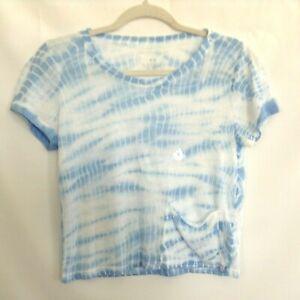 New Aeropostale Womens Live Love Dream Cropped T-Shirt Sz M Juniors Pocket