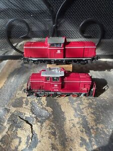 Fleischmann HO Scale Diesel Locomotives 261199-3 & 211 295-1 Made In Germany