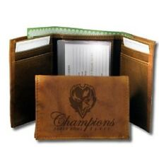 NFL Baltimore Ravens Super Bowl Champions  Genuine Leather Tan Trifold Wallet