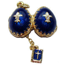 Fleur de lys royale Pendentif Oeuf style Fabergé La Bible Fleur de lys oeuf