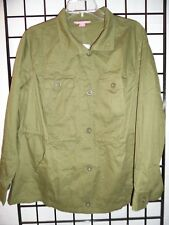 women within light weight army green jacket/top size m 14/16