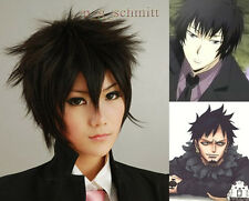 ONE PIECE Trafalgar Law Or Hitman Reborn Hibari Kyoya Short Cosplay wig