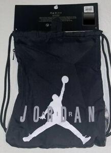New Nike Air Jordan Jumpman Drawstring Sack Gym Backpack Bag Black/Gray One Size