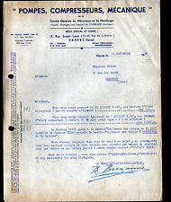 "VANVES (92) USINE ""POMPES , COMPRESSEURS , MECANIQUE"" en 1949"