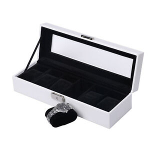 Watches Display Storage Leather Watches Box Case Holders for Ladies  6/10 Grids