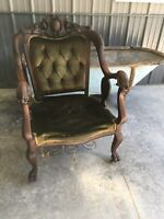 ANTIQUE MAHOGANY ARM CHAIR CARVED GRIFFINS CLAW FEET ATTRIBUTED KARPEN STUNNING