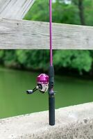 Spincast Reel and Fishing Rod Combo, Tackle Included, Pink