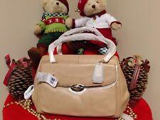 NWT Coach Madison Madeline EW Satchel Shoulder Bag Camel Tan Leather 25166 RARE!