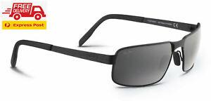 Maui Jim Castaway POLARIZED Sunglasses - Matte Black Neutral Grey
