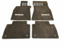 LEXUS OEM FACTORY CARPET FLOOR MAT SET 2009-2012 LS460L LS600HL AWD ( BROWN )