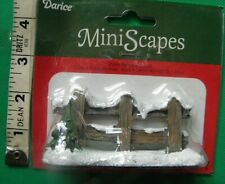Darice MiniScapes ~ Snowy Fence with Tree ~ Christmas Village Figurine