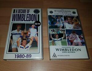 WIMBLEDON Decade Of Wimbledon Legends Of Wimbledon Tennis VHS Collection RARE!