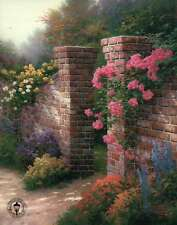 The Rose Garden - Painter of Light, Art Card --- Thomas Kinkade Dealer Postcard