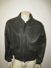 Vintage 1980s AVIREX A-2 Dark Brown Leather Flight Jacket Size SMALL