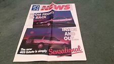 October 1988 / 1989 Model PEUGEOT NEWS - UK BROCHURE 405 ESTATE 205 305 505 309