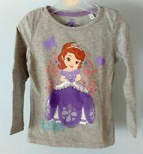 Original Disney Sofia the First Grey Long Sleeve T-shirt Top Age 3 years