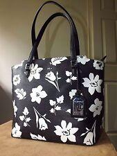 Lauren by Ralph Lauren black & white floral handbag/tote