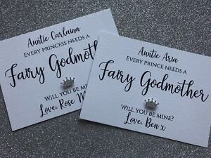 Prince/Princess Will you be my Fairy Godmother/Godfather/Godparents Request Card