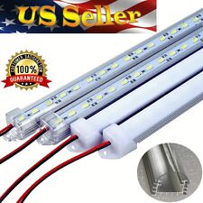 .5m 5630SMD Pure White Aluminum 12V LED Strip Light Clear Cover Under Cabinet RV