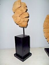 "Stunning 16"" lake Michigan Driftwood Sculpture mounted Beautiful Art Piece"