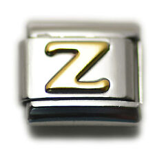 """Italian Charm Bracelet Alphabet Letter Link - LETTER """"Z"""""""