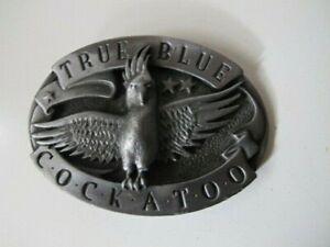 True Blue Cockatoo  #6002 - Retro Cowboy Style Aros Belt Buckle Australia