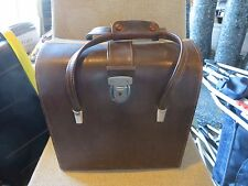 Vintage mid-century brown camera accessories carrying hard bag case doctor