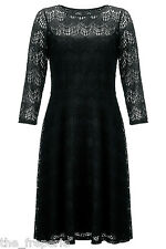 *SOMERSET BY ALICE TEMPERLEY* DECO LACE BLACK DRESS (UK 06)