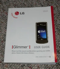 2008 LG Glimmer Celluar Phone User Guide Owner's Manual English and Spanish