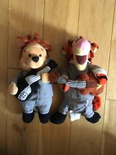 Disney The Beatles Tigger and Pooh Beanie Plushes