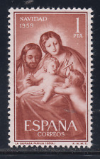 ESPAGNE (1959) NUEVO SIN FIJASELLOS MNH - EDIFIL 1253 NAVIDAD VIRGEN GOYA