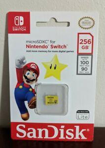 Sandisk 256GB Nintendo Switch Memory Card Micro SD SDXC 4K