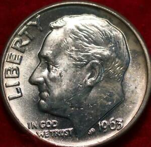 Uncirculated 1963-D Denver Mint Silver Roosevelt Dime