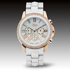 Geneva Platinum 4797 Women Celebration Collection White/gold Bracelet Watch