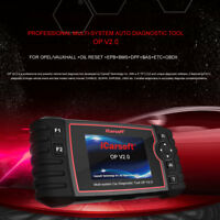iCarsoft Auto Diagnostic Scan Tool OP V2.0 for OPEL/Vauxhall +Oil Reset +EPB+BMS