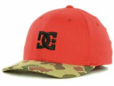 DC Shoes Star Flex Camo Bill Flex Fit Red Camouflage Cap Hat Size L/XL