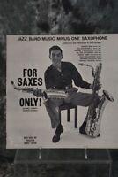 Bob Wilber  Jazz Band Music Minus One Saxophone Vinyl Record LP NM/NM